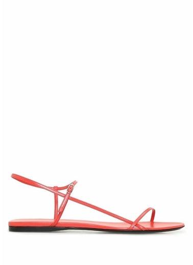 The Row The Row  İnce Bantlı Kadın Deri Sandalet 101508583 Kırmızı